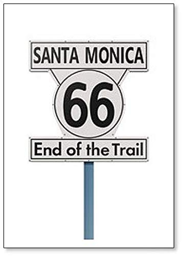 Route 66 - Imán para nevera con texto en inglés