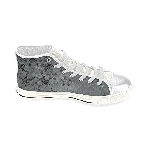 D-Story Custom Star and Flower Womens Classic High Top Canvas Shoes Fashion Sneaker EadJhHiM