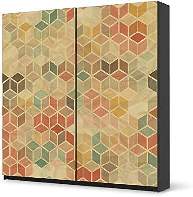 Los muebles-adhesivo de IKEA PAX armario de 201 cm de altura - puerta corredera/diseño de la etiqueta engomada 3D Retro/autoadhesivo para protección de: Amazon.es: Hogar