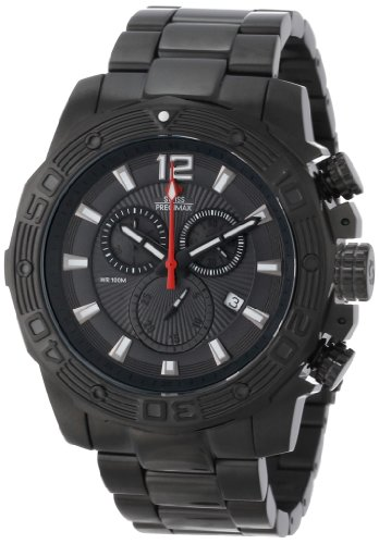 Swiss Precimax Men's SP13265 Legion Pro Black Dial with Black Stainless Steel Band Watch