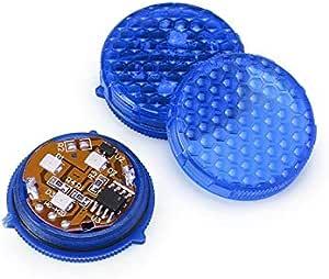 2 قطعة مصباح ليد للتحذير من باب السيارة، يمكن استخدامه ضد الاصطدام بوابات ضد التصادم / التصادم نهاية الخلفية و أضواء تحذير ضد الخطر ضد الماء أزرق اللون