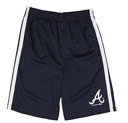Outerstuff Atlanta Braves MLB Little Boys and Big Boys Team Shorts - Navy Blue (2XL (18))
