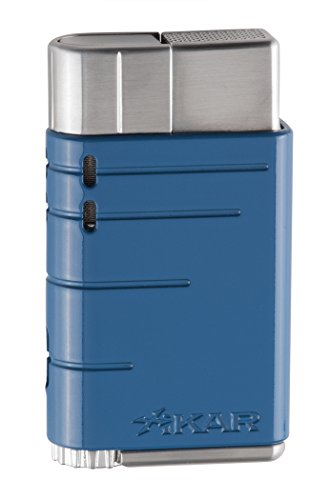 Xikar Linea Single Jet Flame Lighter - Reef Blue (Jet Single Lighter)