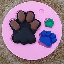 XUEXIN Footprints Fondant Cake Chocolate Silicone Mold Cupcake Cake Decoration Tools,L9.5cm*W9.5m*H1.5cm
