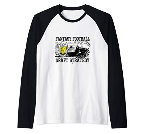 Fantasy Football Draft Strategy Raglan Baseball Tee
