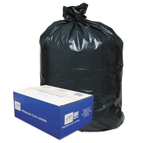 2-Ply Low-Density Can Liners, 55-60gal, .8 mil, 38x58 Black, 100/Carton (Can Ply Trash 2 Classic)