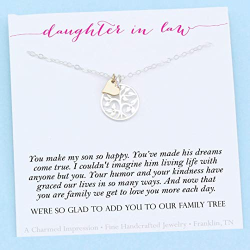 Daughter-In-Law Gift • Welcome to our Family Tree • Sterling Silver • Personalized Jewelry