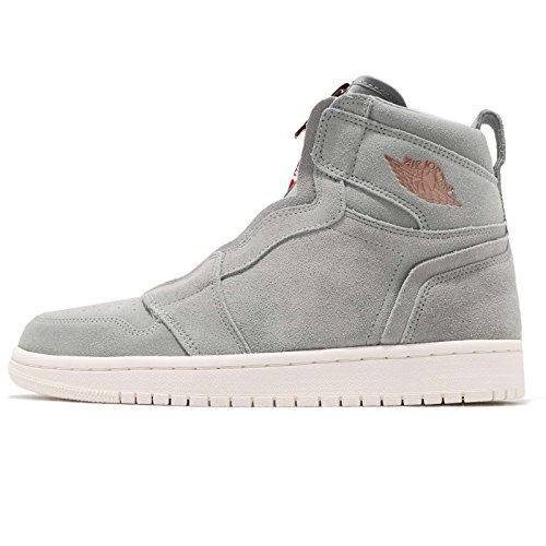 Jordan Air 1 High Zip Women's Shoes Micagreen/Red aq3742-305 (9 B(M) US)