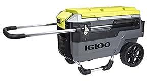 Igloo Trailmate Journey Cooler, Charcoal/Acid Green/Chrome, 70 quart
