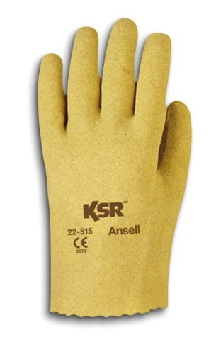 Ansell Gloves Cotton (Ansell KSR 22-515 Vinyl Glove, Coated on Interlock Knit Liner, Large (Pack of 12 Pairs))