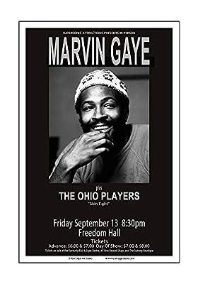 Raw Sugar Art Studio Marvin Gaye 1974 Louisville Concert Poster