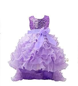 OHmais Niñas Vestido Falda del Cordón del Tutú para Fiesta del Vestido de Boda Aniversario Ceremonia