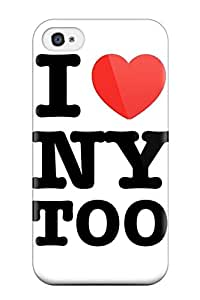 Fashion Protective I Love Ny Logo Case Cover For Iphone 4/4s