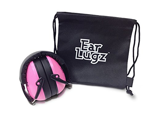 Ear Lugz - Children's Ear Defenders Earmuffs, Just for Kids, Amazing noise protection for shooting at the range, Including Storage Bag (Hot - Usa Baby Banz
