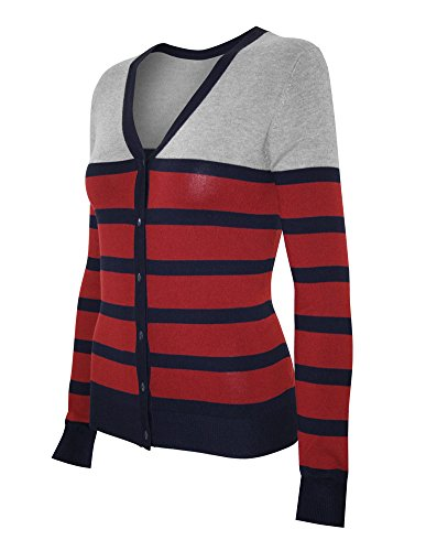 cielo-womens-knit-cardigan-sweater-v-neck-striped-large-navy-red-lgrey
