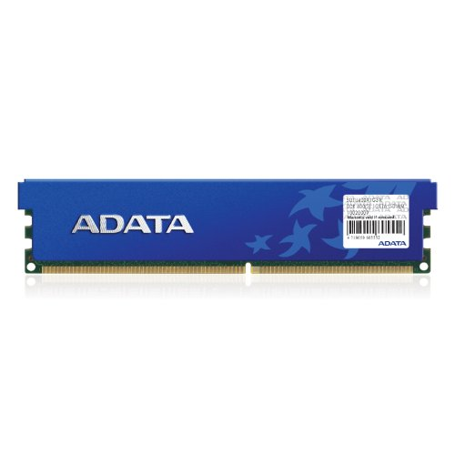 - ADATA 1 GB DDR-400 (PC-3200) DIMM Memory Module with Heatspreader AD1U400A1G3RHS (Black)