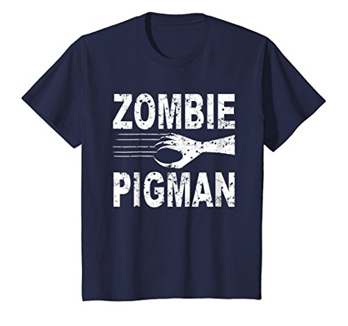 Kids Zombie Pigman T Shirt Scary Halloween Costume 6 -