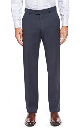Ballin Men's Soho Modern Fit Super 120's Wool Dress Pants - Blue Mix - 36 -