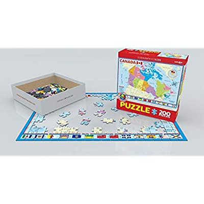 EuroGraphics Map of Canada Puzzle (200 Piece): Toys & Games