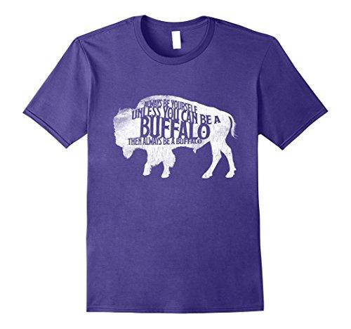 elf Be A Buffalo Funny T-Shirt Bison Spirit 2XL Purple (Purple Buffalo)