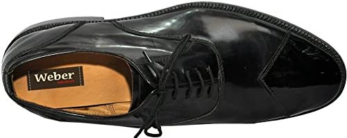 Johny Weber Handmade Leather Oxford Style Men Dress Shoes with Hand Welted Construction
