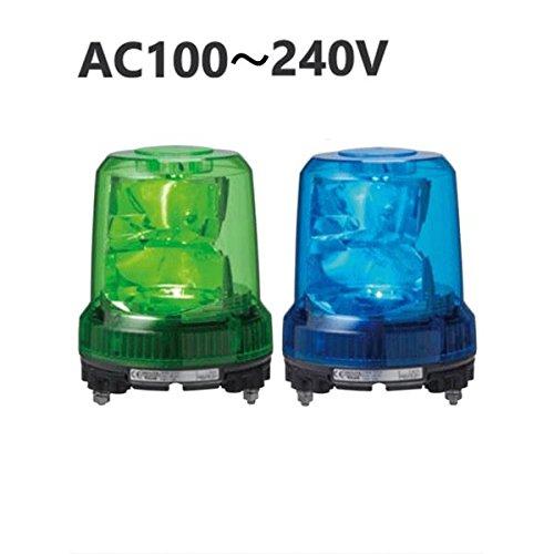 パトライト(回転灯) 強耐振大型パワーLED回転灯 RLR-M2 AC100240V Ф162 耐塵防水 緑 B077RVTJ59