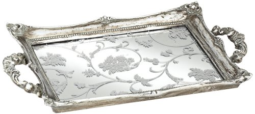 Floral Pattern Wide Silver Mirrored product image