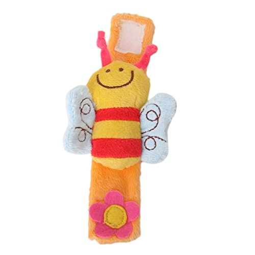 Lovely Soft Baby Wrist Rattle Toy Hands Finder Bee