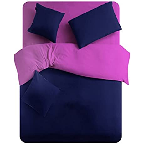Cock Cola Navy And Purple Microfiber Cotton Bedding Set California King