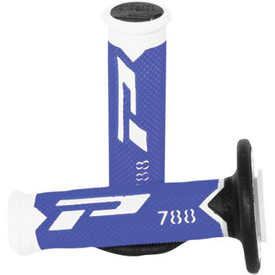 Progrip 788 Pa078800WBN Progrip Motocross Handlebar Grips, White / Blue / Black