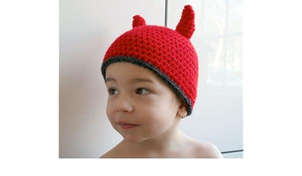 Crochet Pattern Crochet Little Devil Hat 38 Includes 4 Sizes From