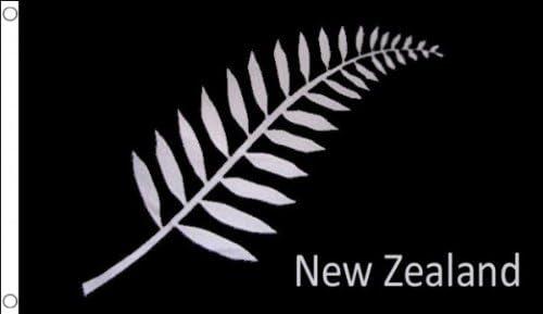 Black New Zeleander Flags 90 x 150 cm Banner 3x5 ft Drapeau Nouvelle-Z/élande foug/ères AZ FLAG New Zealand Fern Flag 3 x 5