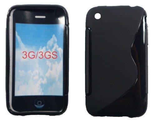 Gummihülle, Hülle für iPhone 3, 3G, 3GS, Schwarz, Silikonhülle, Silikon, Gummi, Hülle, Schale