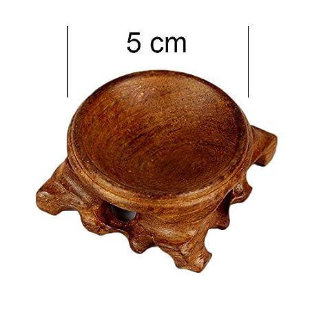 Coomir Base en Bois du Support de pr/ésentation pour la d/écoration de la Table de Bureau en Maison de la Sph/ère cristalline 2.5CM