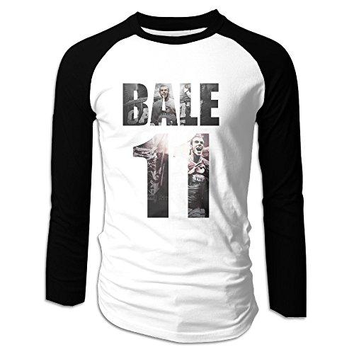 Creamfly Mens Gareth Cool Bale Long Sleeve Raglan Baseball Tshirt M