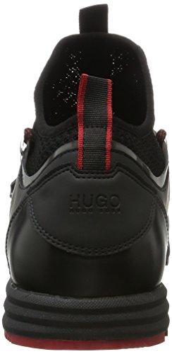 HUGO Hybrid_runn_knvl 10201504 01, Scarpe da Ginnastica Basse Uomo, Nero (Black), 42 EU