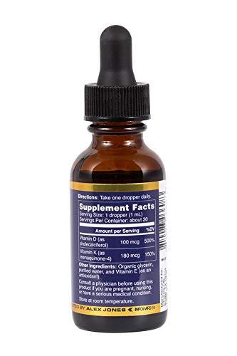 Infowars Life - Winter Sun Plus Vitamin D Supplement (1 fl. oz) - Vegan, Non-GMO & Gluten Free Liquid Drops
