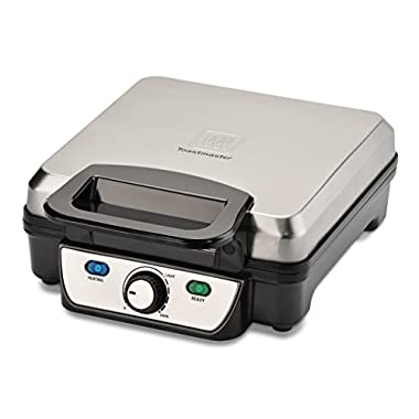Toastmaster TM-291WMC 4 Slice Waffle Maker, Silver