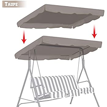 BenefitUSA Patio Outdoor 77 x43  Swing Canopy Replacement Porch Top Cover Seat Furniture (  sc 1 st  Amazon.com & Amazon.com : Outdoor Swing Canopy Replacement Porch Top Cover Seat ...