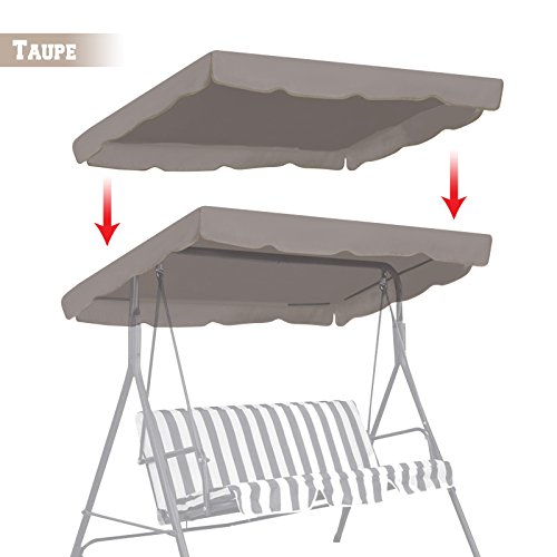 BenefitUSA Patio Outdoor 77'x43' Swing Canopy Replacement Porch Top Cover Seat Furniture (TAUPE)