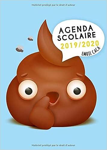 Agenda Scolaire 2019-2020 Emoji Caca: Agenda étudiant 2019 ...