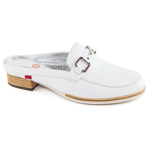 Brazil Napa Made Womens Fashion Ave Casual NY Genuine Park Shoes White Joseph Leather Mule Marc in 1ZIUq