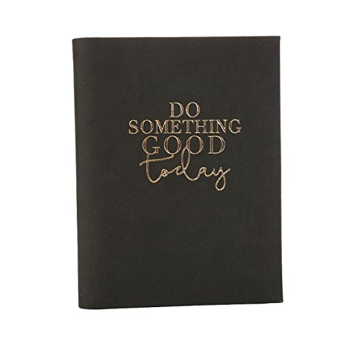 Notebook Leatherette Black (Do Something Good Today Black and Gold Toned 8 x 6 Leatherette Subject Notebook)