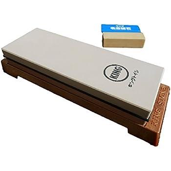 King Japanese Grit 1000/6000 Combination Sharpening Stone KW-65 and King #8000 Nagura Stone : Bundle - 2 Items