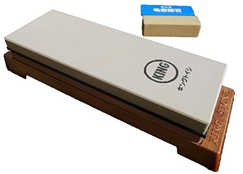 King Japanese Grit 1000/6000 Combination Sharpening Stone KW-65 and King...