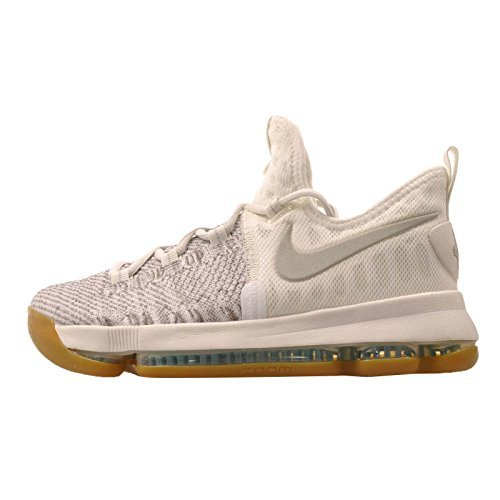 NIKE Kid's Zoom KD9 GS, Pale Grey/Pale Grey - Ivory, Youth Size 5