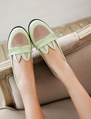 5 eu36 bajo 5 tacón punta mujer rosa cn35 charol zapatos de redonda verde uk3 Casual negro Flats PDX us5 de pink CxqA1wga
