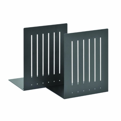 (STEELMASTER Heavy Duty 8-Inch Steel Bookends, 1 Pair, Black (241080004))