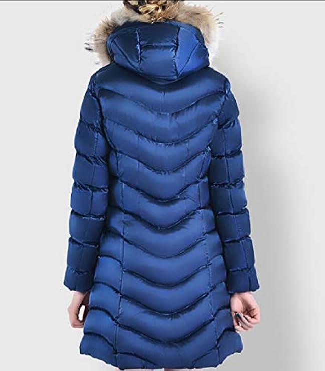 Fur Faux Womens Caldo Di Cappotto Xiaohuoban Invernali Giacche Trim Hood 1nX6Onqxw