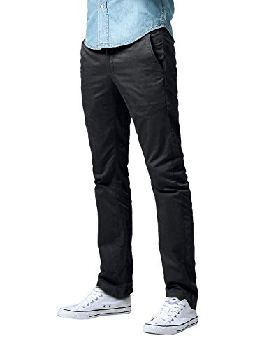 Match Men's Slim Fit Straight Leg Casual Pants (32, 8113 Charcoal Gray)